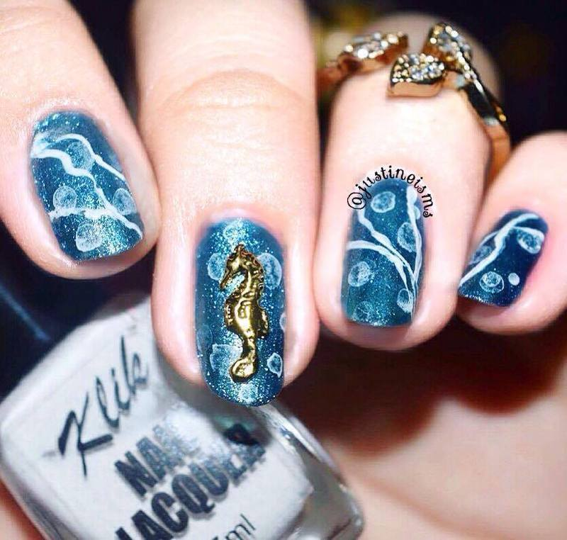 Underwater Bubbles Nail Art By Ustine Nailpolis Museum Of Nail Art