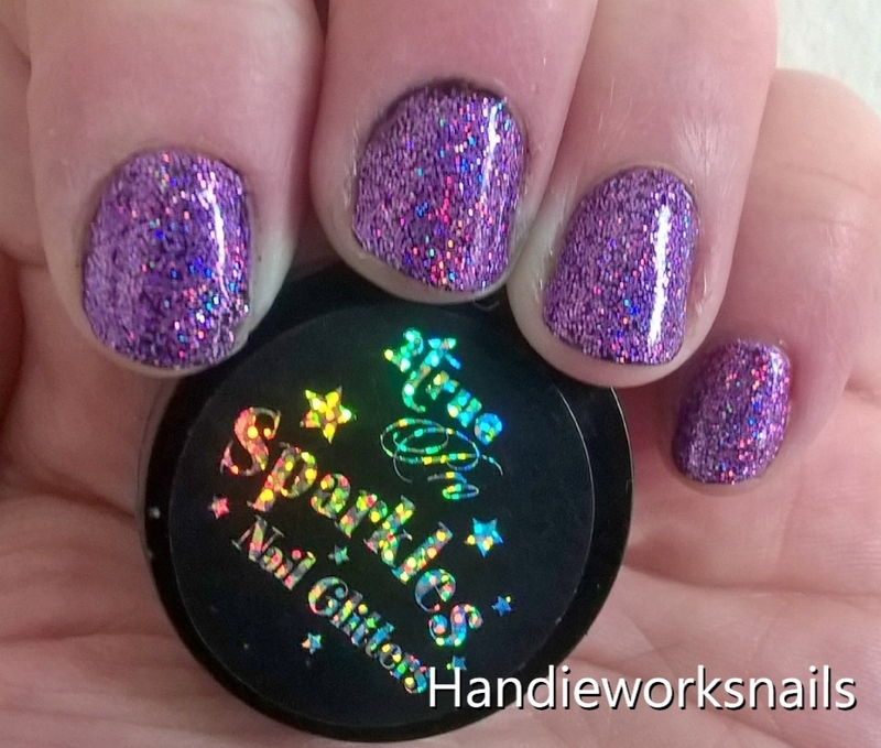 Holo nails nail art by Sazjay