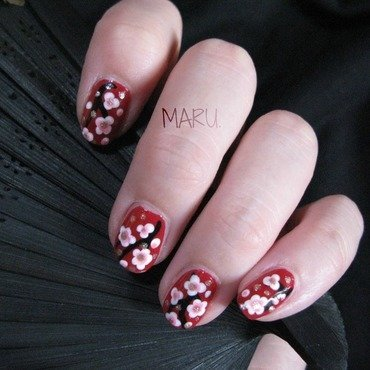 Sakura nail art by Martina