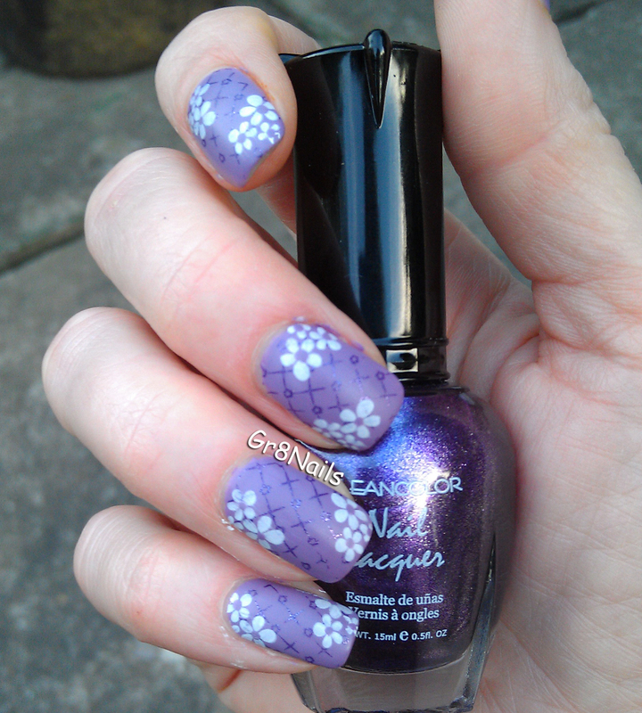 Purple nail art by Gr8Nails