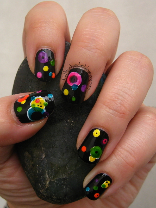 Several Circles nail art by Vedrana Brankovic