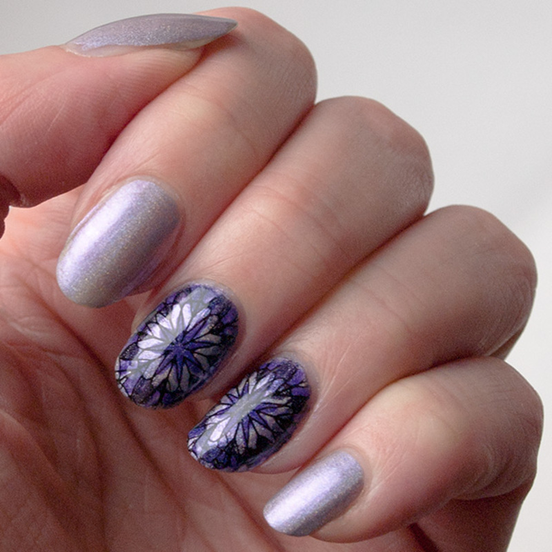 Kaleidoscope in purple nail art by What's on my nails today?