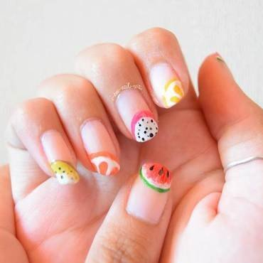 Summer Fruits nail art by i-am-nail-art