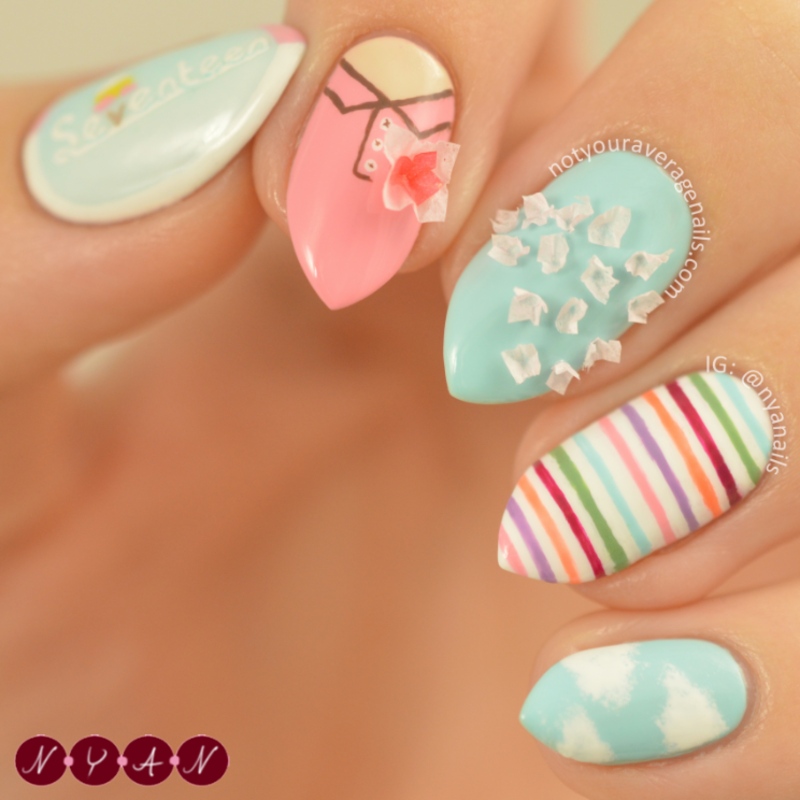 Very Nice nail art by Becca (nyanails) - Nailpolis: Museum of Nail Art