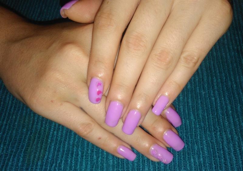 purple gel nails  nail art by vesna