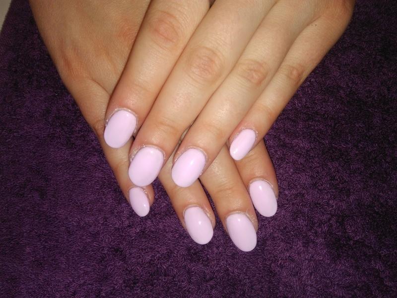 sculpted pink gel nails nail art by vesna