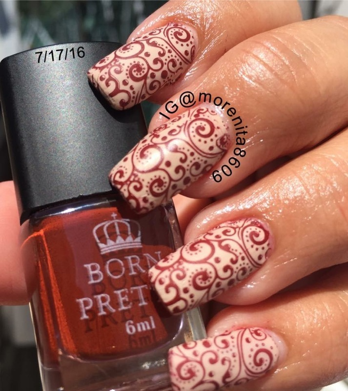 Born Pretty Stamping Polish  nail art by Morenita  Morena