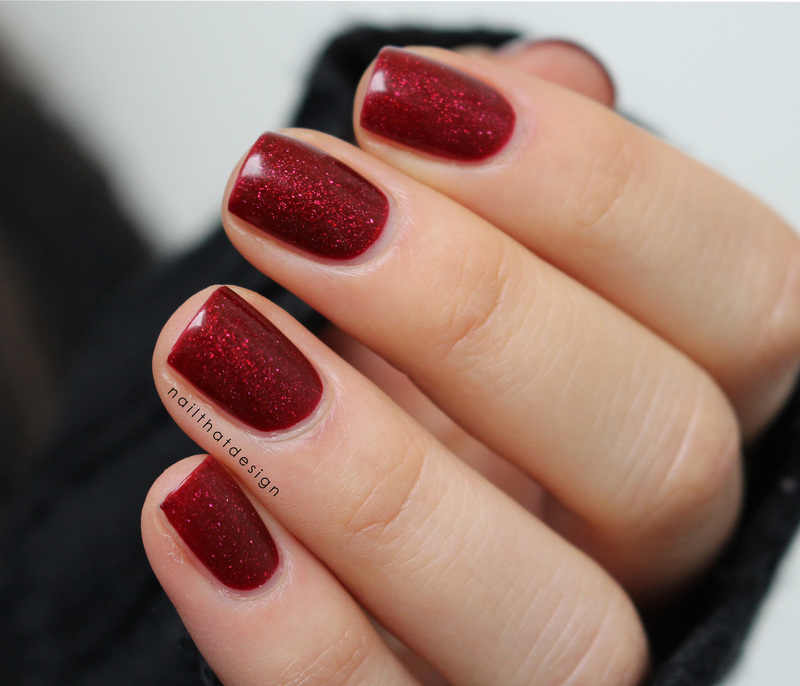 piCture pOlish Bordeaux Swatch by NailThatDesign