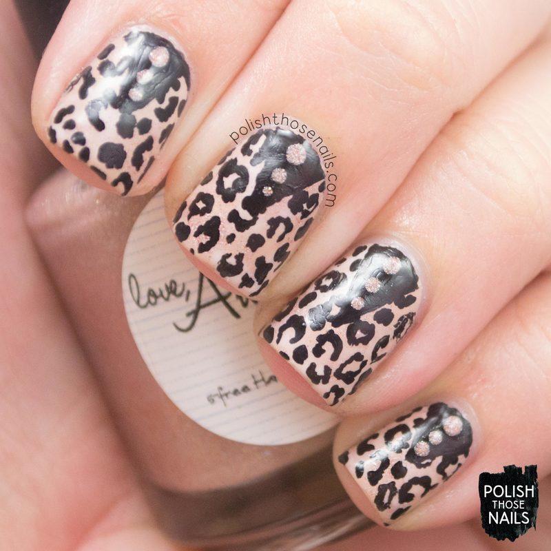 Leopard Spikes nail art by Marisa  Cavanaugh
