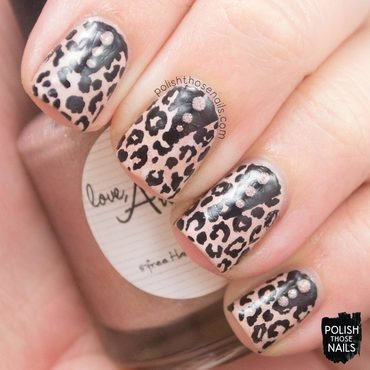 Leopard Spikes nail art by Marisa  Cavanaugh