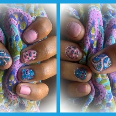 Summer Pastels nail art by Avesur Europa