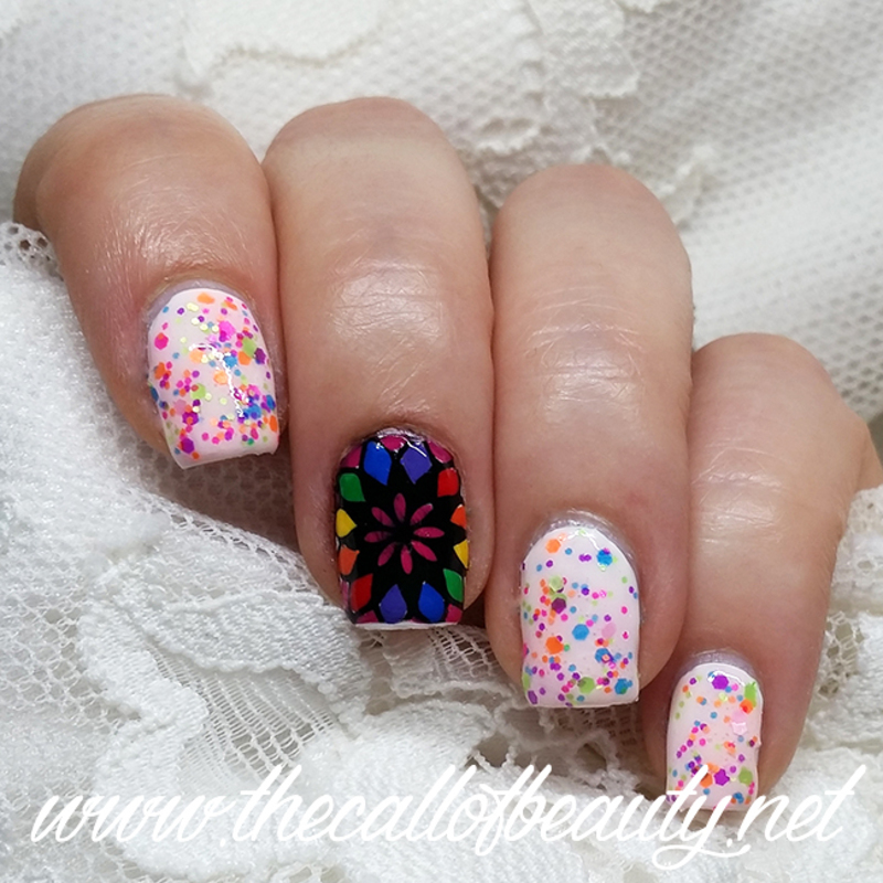 Kaleidoscope Manicure nail art by The Call of Beauty