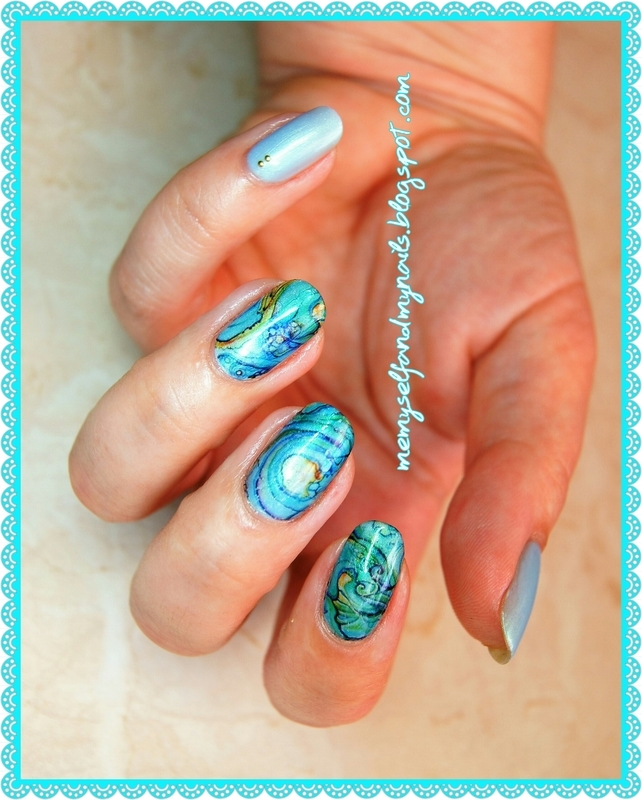 Whispering sea nail art by ELIZA OK-W