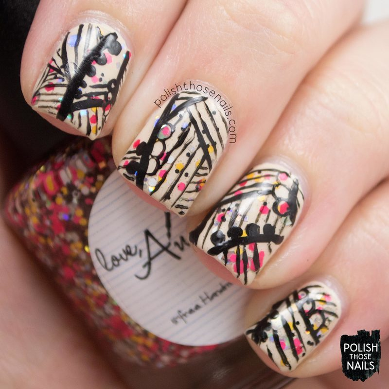 Hello Dah-lines nail art by Marisa  Cavanaugh