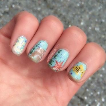 Under the sea nail art by Happy_aries
