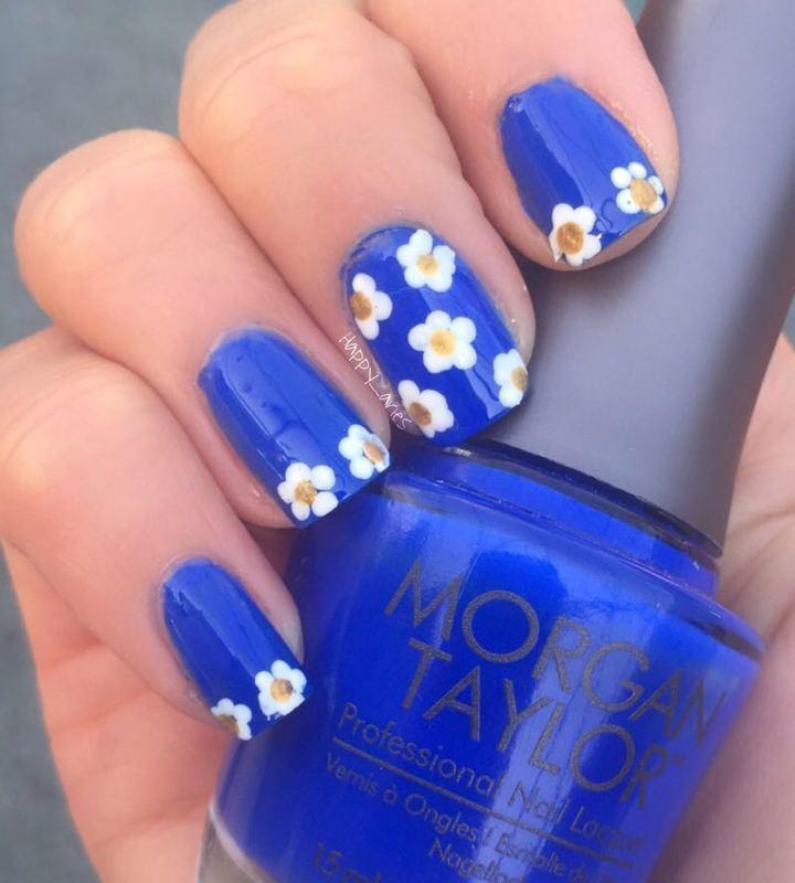 Daisies nail art by Happy_aries