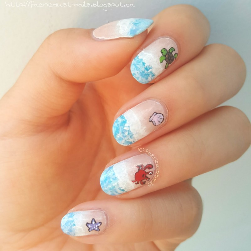 Beach Nails nail art by Shirley X.