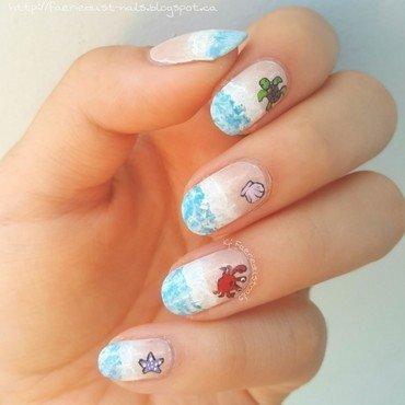 Beach Nails nail art by Shirley X.