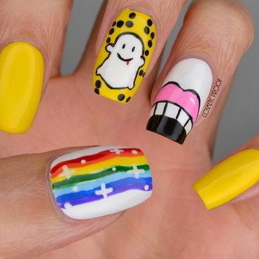 Snapchat Nail Art nail art by Jayne