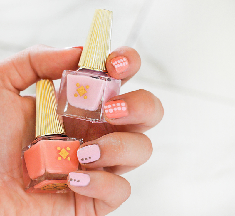 Mix'n Pinks //  nail art by Deco Miami
