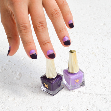 Purple Negative Space // nail art by Deco Miami