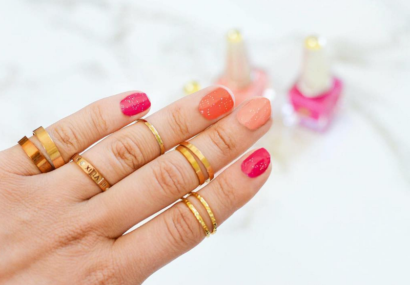 Warm Colors // nail art by Deco Miami