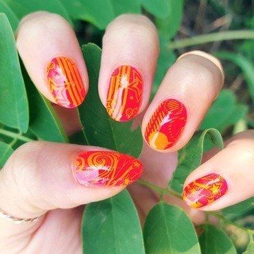 Neon Rockstar! nail art by Alisha Worth