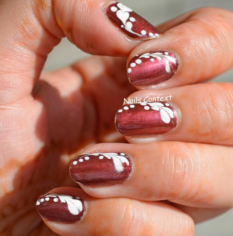 Heart Drag Marble Nails  nail art by NailsContext