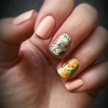 summer flower🌸🌺🌞 nail art by redteufelchen86