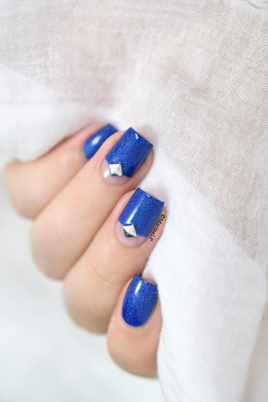 Captain Blue Stud! nail art by Marine Loves Polish
