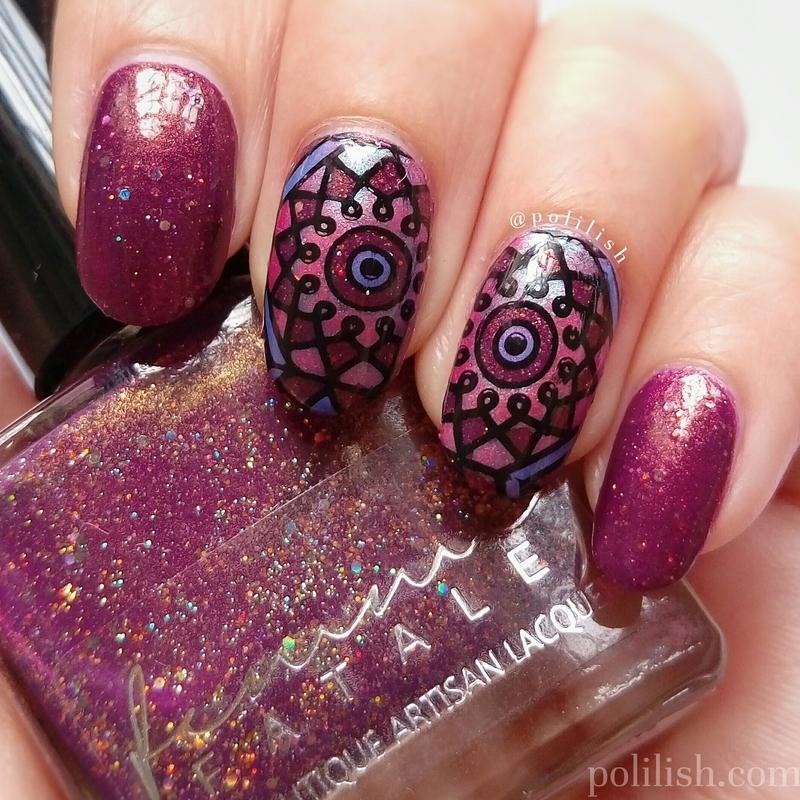Kaleidoscope nail art nail art by polilish