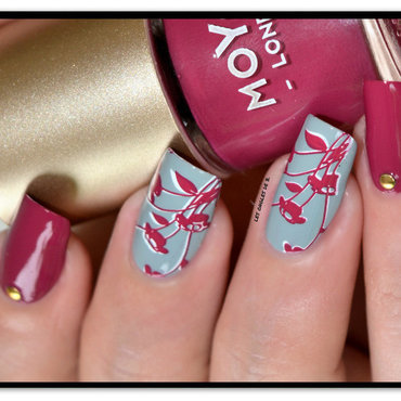 Stamping Double nail art by Les ongles de B.