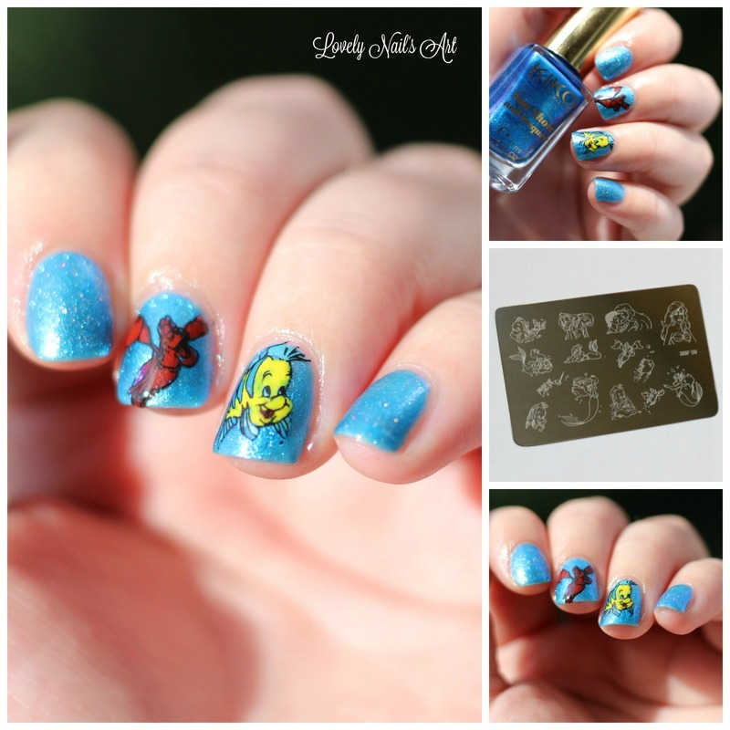 Nail art stamping disney nail art by Lovely Nail's  Art