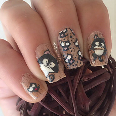 cats party  nail art by Happy_aries