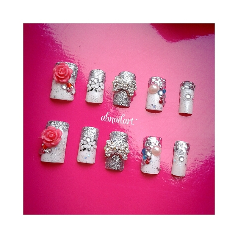 Icy Pink nail art by moii phing