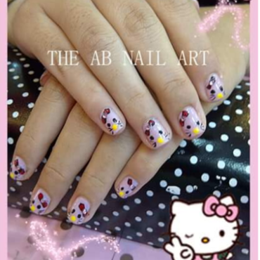 Cutteness Kitten nail art by moii phing
