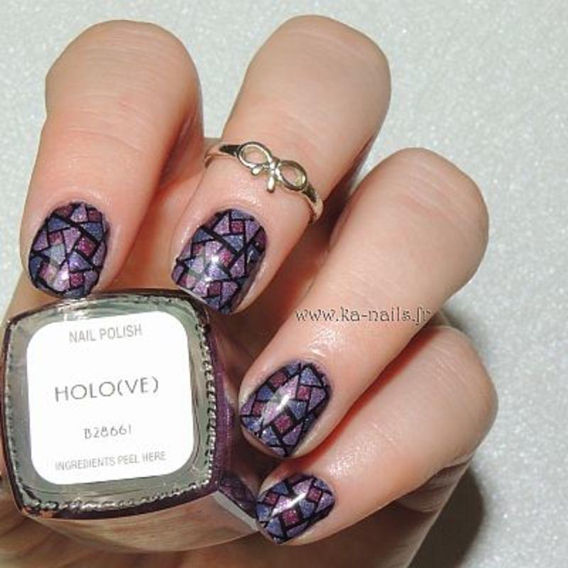 Du Violet, du Violet ... et du Rose nail art by Ka'Nails
