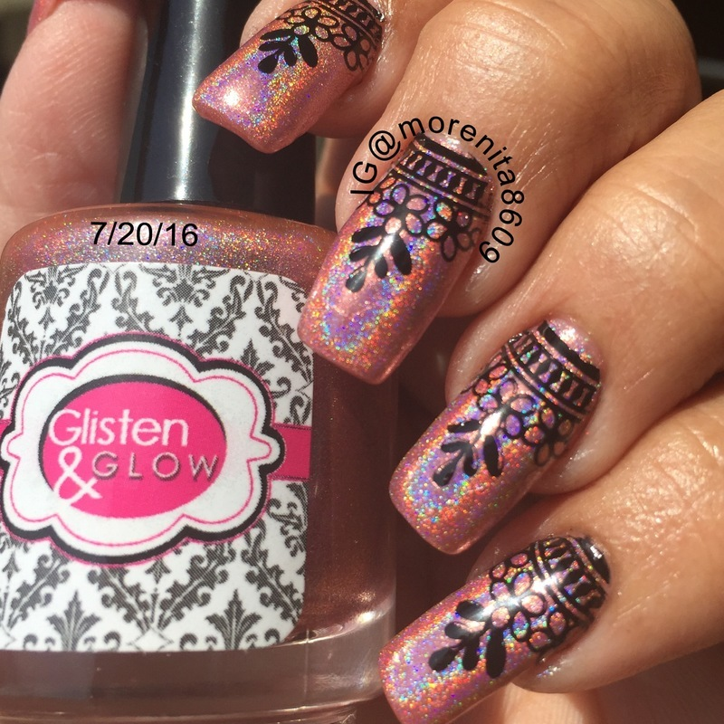 Beautiful Holographic Nails nail art by Morenita  Morena