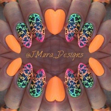 Funky Love nail art by JMura_Designs