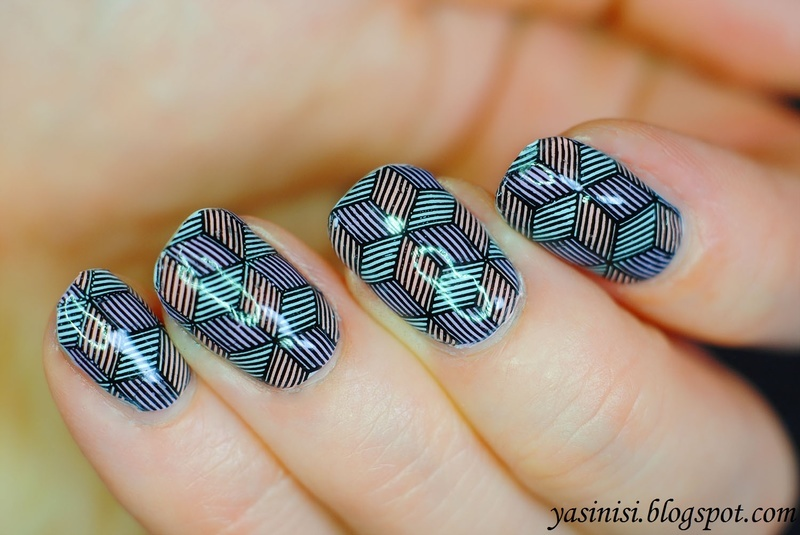 Rhombs or bubes? nail art by Yasinisi