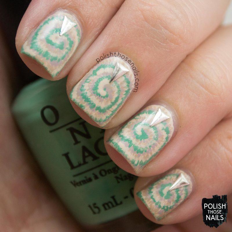 Neutie Dye nail art by Marisa  Cavanaugh