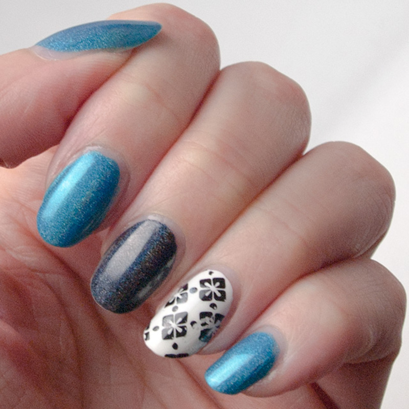 My reused manicure - day 4 nail art by What's on my nails today?