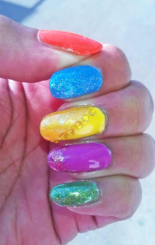 Summer Fun nail art by Jackie Bodick