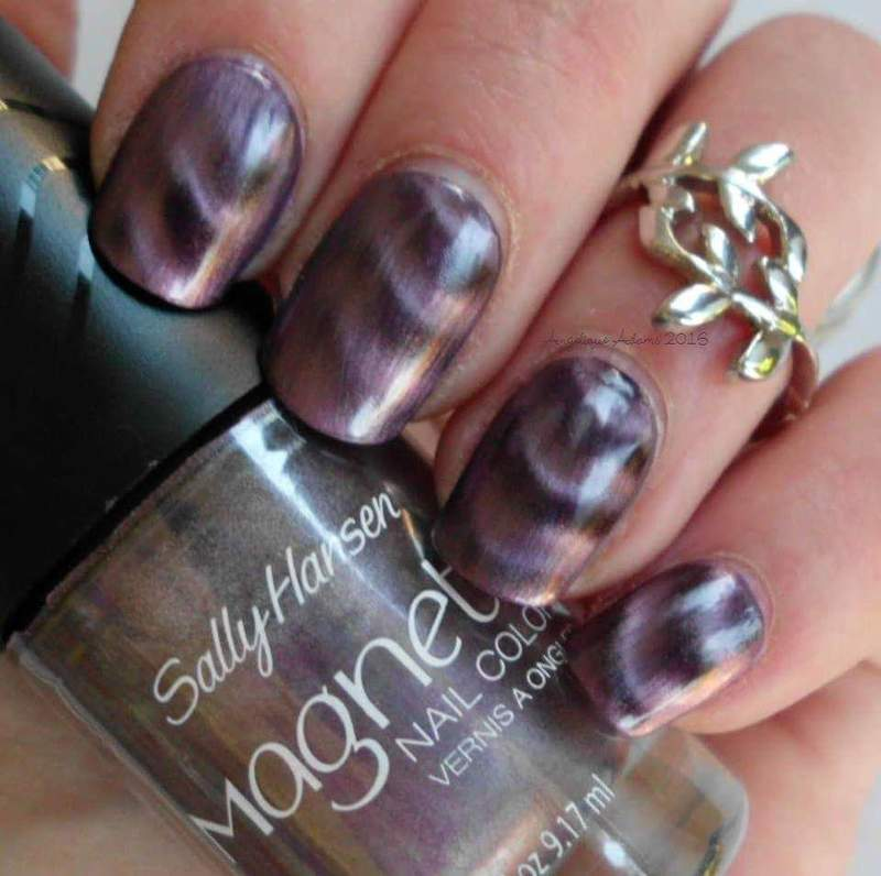 Sally Hansen Magnetic Nail Color Polar Purple Swatch by Angelique Adams