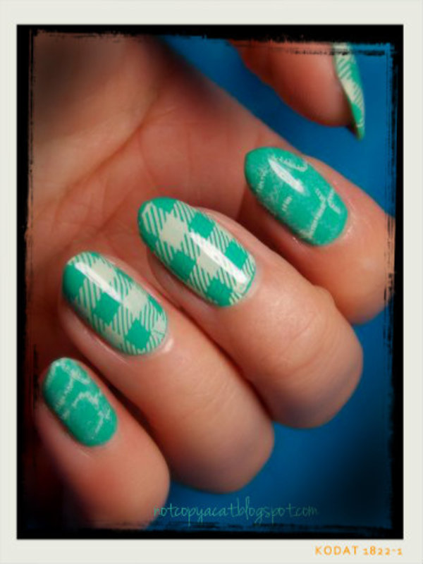 Checked nails nail art by notcopyacat