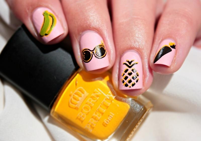 Fruit design nail art by Romana