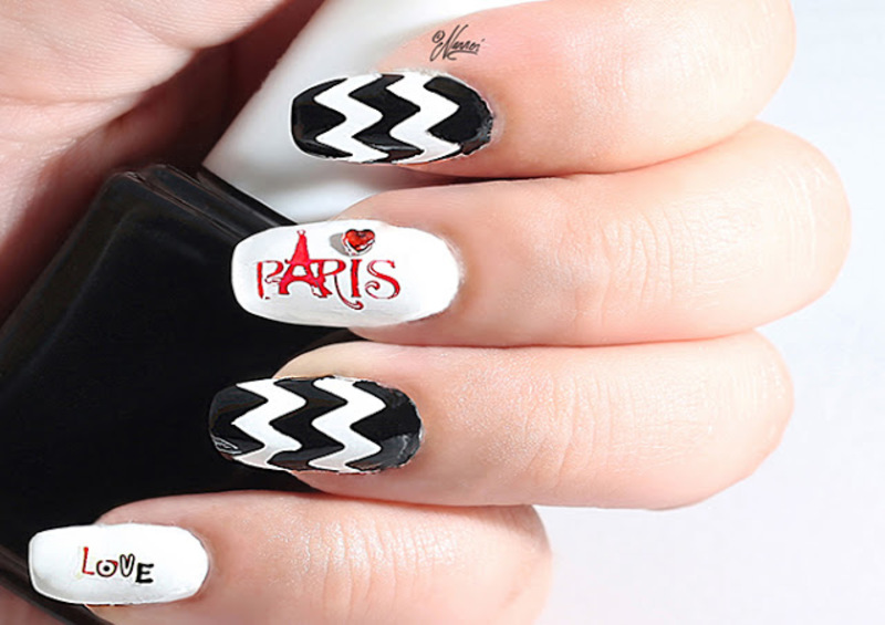 Paris nail art by Nanneri