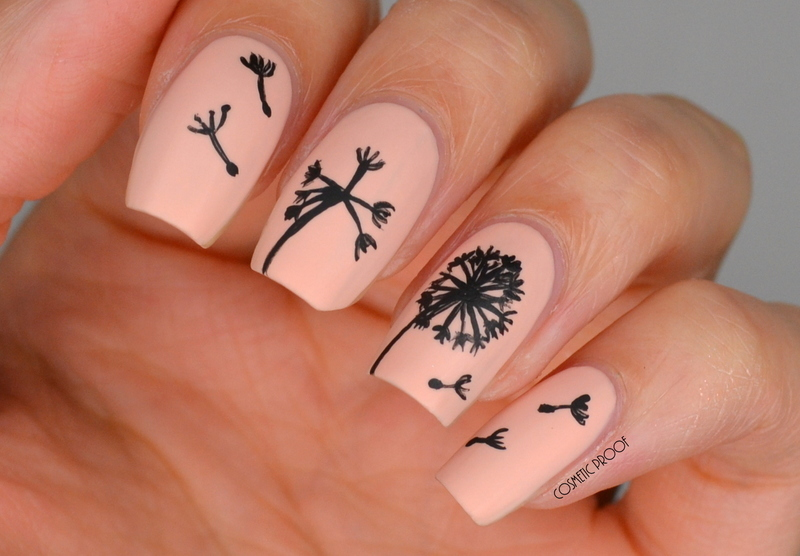 Tribute to Ane Li Dandelion Nail Art nail art by Jayne