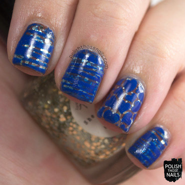 Love angeline she loves me gold aqua glitter blue nail art 3 thumb370f