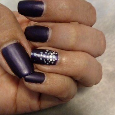 Purple matte boho  nail art by Rubby  Jarnagin